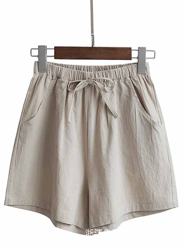 Oversized Linen Casual Shorts