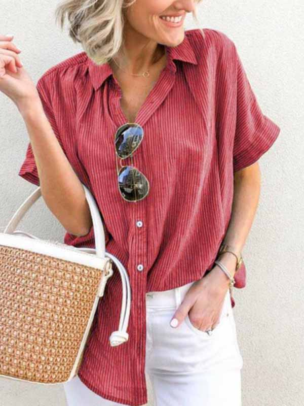Casual Loose Striped Shirt