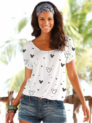Mickey Mouse Fashion Short-Sleeved T-shirt