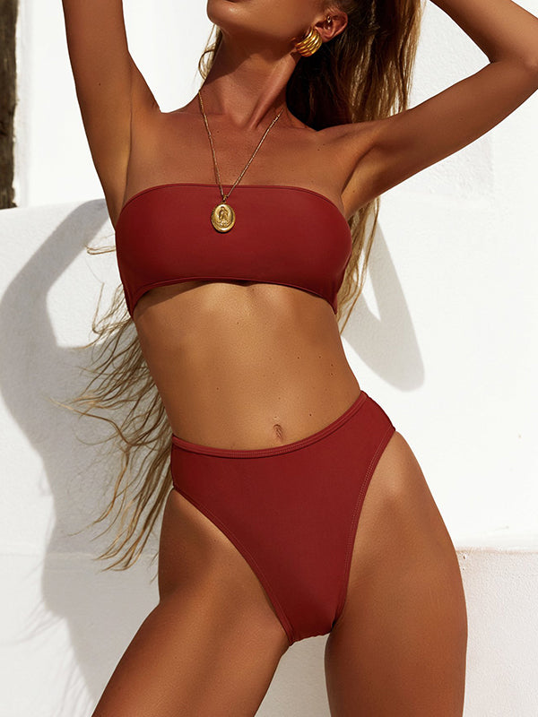 Bandage Cover Up Bikini Set