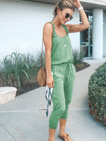 Sling and rope female jumpsuit