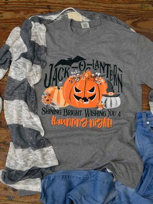 Jack-O-Lantern Shining Bright Halloween T-Shirt