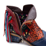 Stylish Casual Ethnic Style Print Tassels Boots For Women