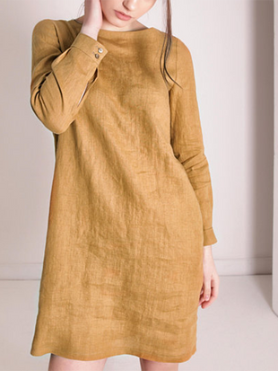 Daily Cotton Linen Dress