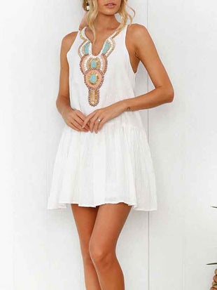 Bohemian Vacation V-neck Dress
