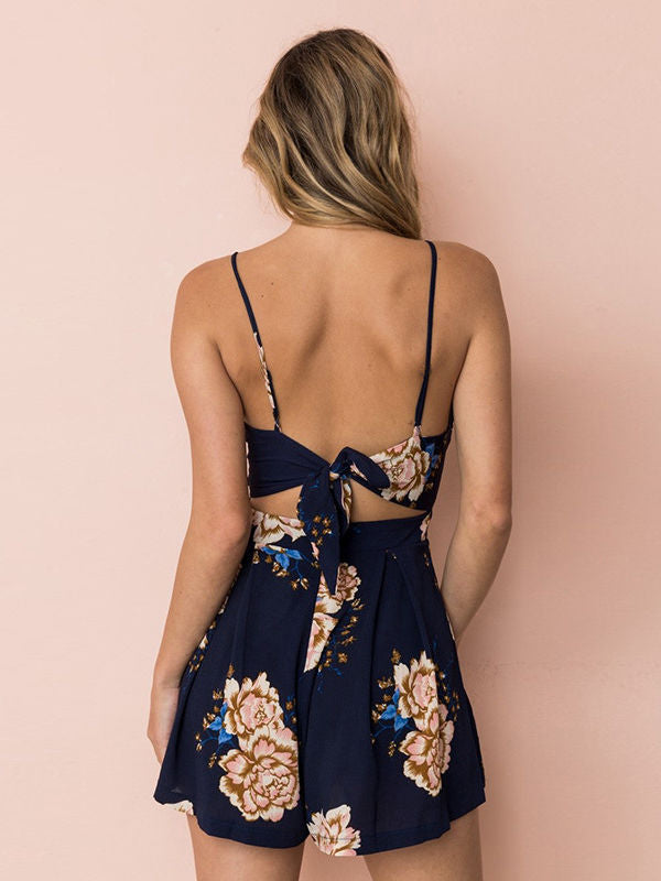 Bow Backless Knot Jumpsuit