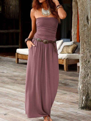 One-Neck Maxi Dress