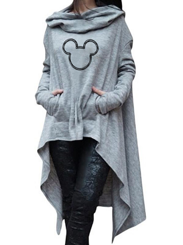 Mickey Mouse Loose Irregularity Cloak Gown TOP