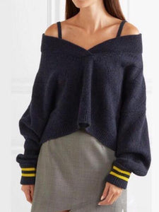 Nifty Casual Fashion Loose Braces Long Sleeve Sweater