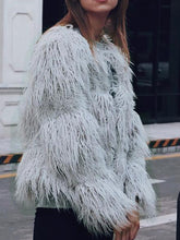 Load image into Gallery viewer, Round Neck Long Sleeve Fashion Fur Jackets