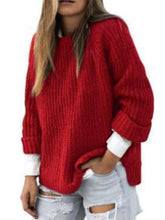 Load image into Gallery viewer, Knitwear Pullover Long Sleeve Curled Sleeve Sweater