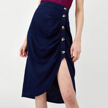 Load image into Gallery viewer, Pleated Decorative Midi Skirt