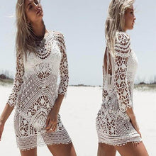 Load image into Gallery viewer, Beach Holiday Sunscreen Sexy Hollowed Lace Smock