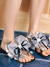 Load image into Gallery viewer, Fashion Clip Toe Flat Shoes With Bow-Knot