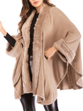 Load image into Gallery viewer, Collarless Plain Batwing Sleeve Coat