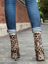 Load image into Gallery viewer, Fashion Leopard High   Heel Ankle Boots