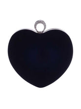 Load image into Gallery viewer, Red Heart Chain Clutch Bag