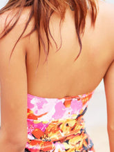 Load image into Gallery viewer, Halter  Bowknot Contrast Trim  Printed One Piece