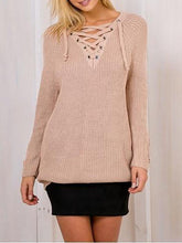 Load image into Gallery viewer, Sexy Fashion Tie-Up  V-Neck Knit Sweater