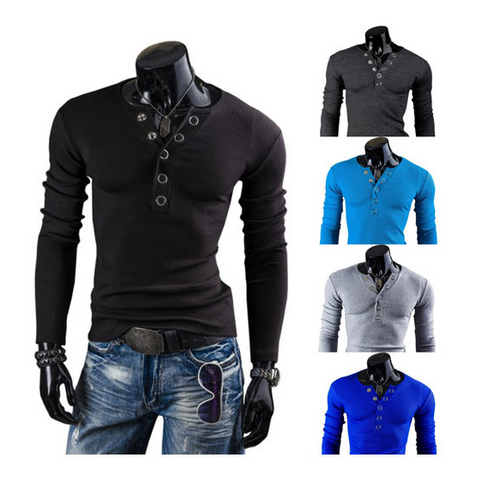 Prong Annular V-Neck Buckles Sanding Cultivating Long-Sleeve Top