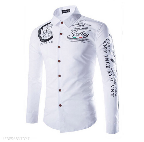 New Men's Casual Long-Sleeved Shirt