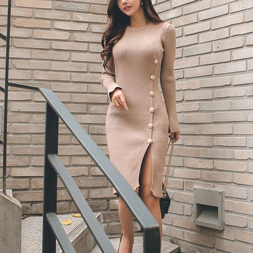 Sexy Split Fashion Temperament Bodycon