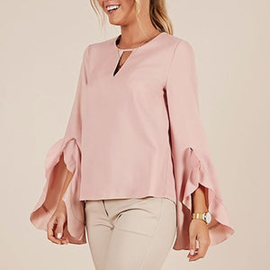 Stylish Long Sleeve Round Neck Plain T-Shirt