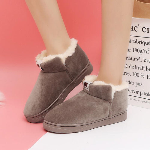 Casual Winter Thick Plain Floss Snow Boots