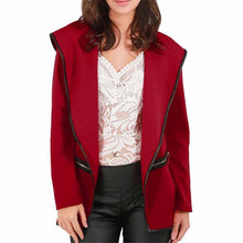 Load image into Gallery viewer, Lapel Plain Long Sleeve Blazer
