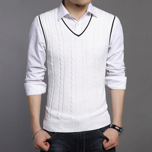 New Classic V-Neck Sleeveless Sweater  Knitwear Vest