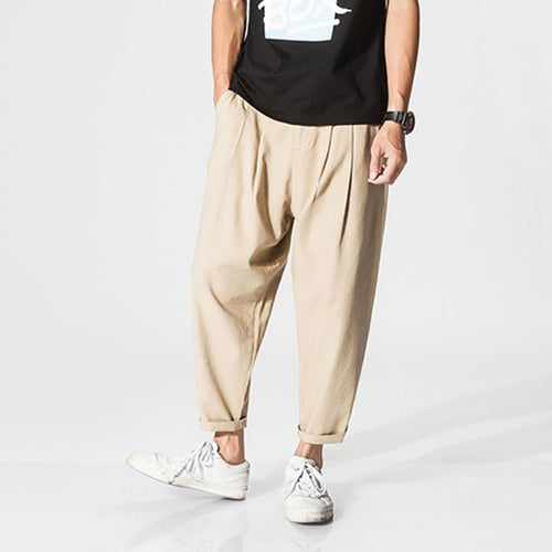 Loose Thin Section Breathable   Cotton And Linen Casual Pants
