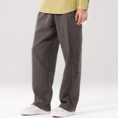 Men's Cotton And Linen Casual   Pants
