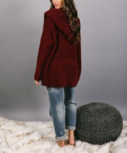 Load image into Gallery viewer, Fashion pure color hooded cardigan
