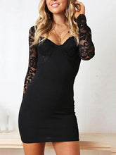 Load image into Gallery viewer, Fashion Lace Long Sleeve Bodycon Dress