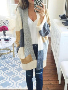 Medium And Long Color Long-Sleeved Sweater