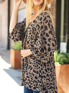 Fashion Printed Irregular Sleeve Cardigan Outwear