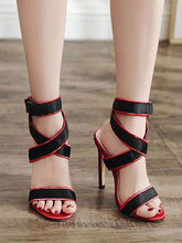 Load image into Gallery viewer, Sexy Cross Straps Slim High Heel Sandals