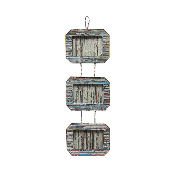 Recycled Paper Hanging Frame