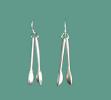 UXO Recycled Spoon Earrings