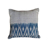 Indigo Ikat Cushion Cover