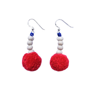 Akha Pompom Earrings