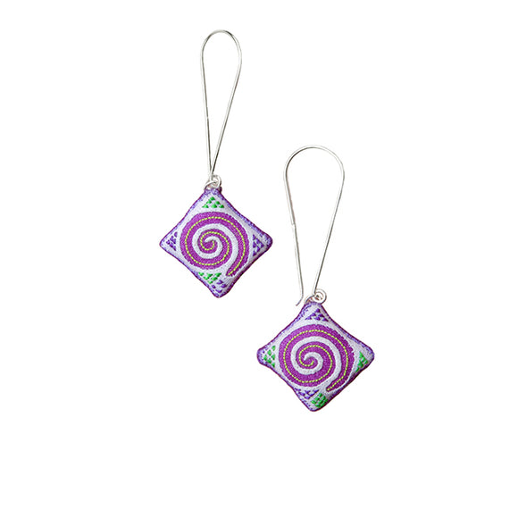 Hmong Swirl Earrings