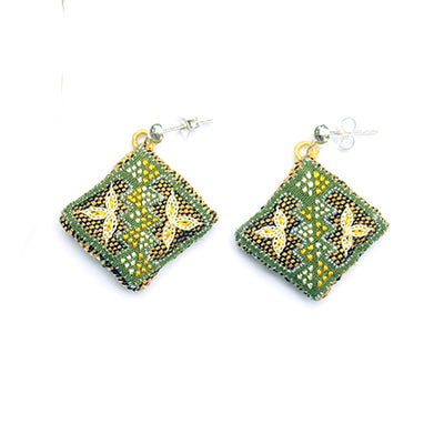 Hmong Flower Earrings
