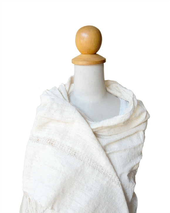 White Cotton Shawl