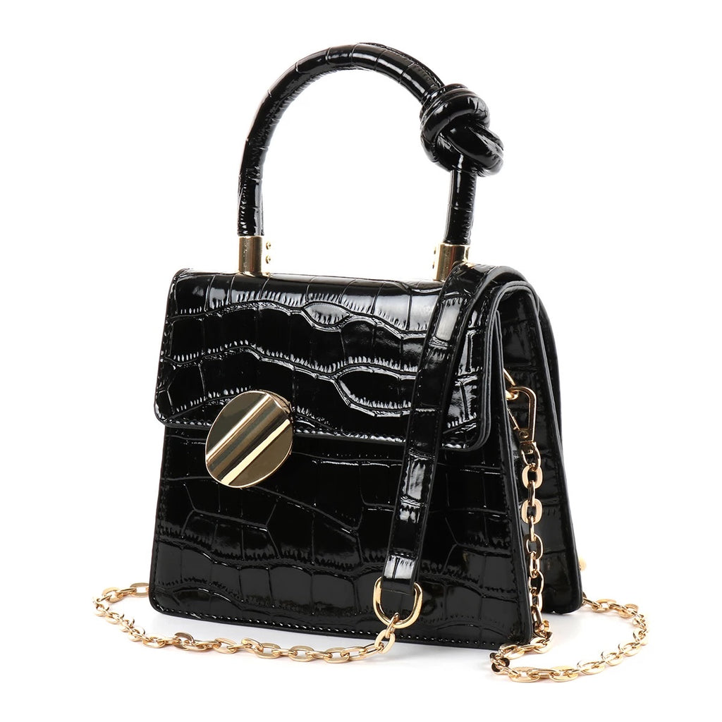 Jewel Top Knot Crossbody - Onyx