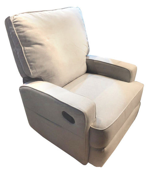 Beige couch with leg recliner