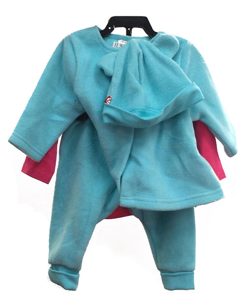 Zutano 4 piece set color Teal age: 9 m