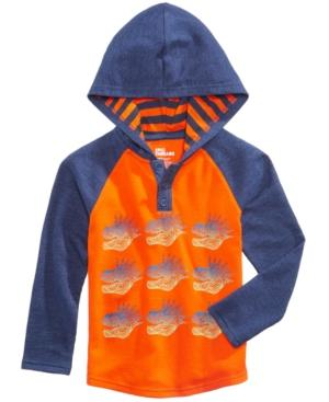 Epic Threads Dinosaur Graphic-Print Hooded Henley, Toddler Boys (2T-5T), Created for Macy's