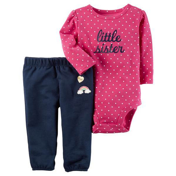 Carter's Baby Girl's Pink & Blue 2-Piece