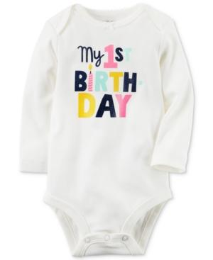 Carter's My 1st Birthday Cotton Bodysuit, Baby Girls (0-24 Months)